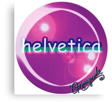 helvetica sample for cool designers Canvas Print