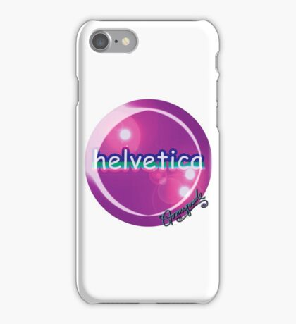 helvetica sample for cool designers iPhone Case/Skin