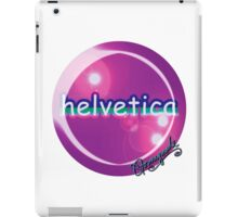 helvetica sample for cool designers iPad Case/Skin