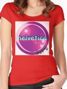 helvetica sample for cool designers Women's Fitted Scoop T-Shirt