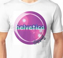 helvetica sample for cool designers Unisex T-Shirt