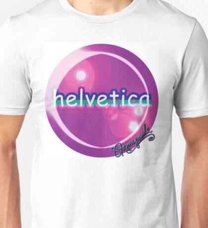 helvetica sample for cool designers Unisex T-Shirt