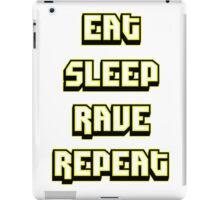 Eat Sleep Rave Repeat - Blindingly Bright Yellow iPad Case/Skin