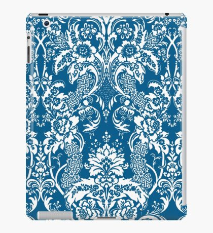 Blue and White Damask iPad Case/Skin