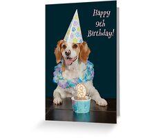Dog Celebrating a Child's 9th Birthday Greeting Card