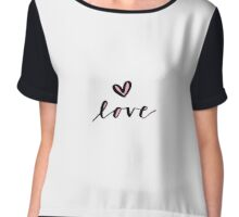 Simple Love Calligraphy Chiffon Top
