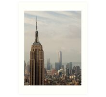 Empire State Building and Freedom Tower NYC Art Print