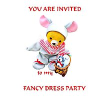Fancy Dress Party Card Photographic Print