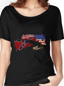 Heritage, Not Hatred Patriotic Eagle Women's Relaxed Fit T-Shirt