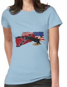 Heritage, Not Hatred Patriotic Eagle Womens Fitted T-Shirt