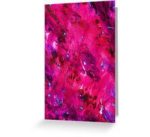 Bright Pink Abstract Greeting Card