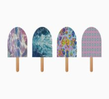 Patterned pastel Popsicles by youtuber-club