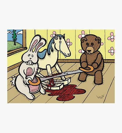 Teddy Bear and Bunny - The Price Of Freedom Photographic Print