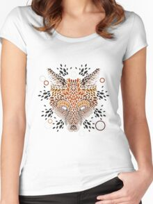 Fox Face Women's Fitted Scoop T-Shirt