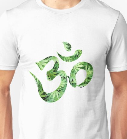 Ohm made of marijuana leaves Unisex T-Shirt