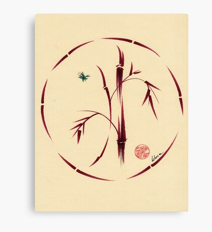 Sacred Circle - Original Enso Zen Painting Canvas Print