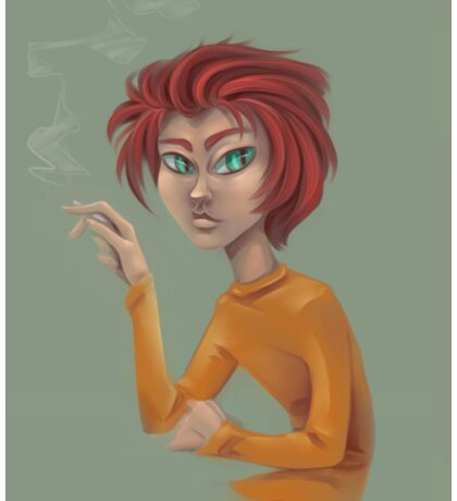 Some Lady :  The Cool, Green-Eyed Redhead Sticker
