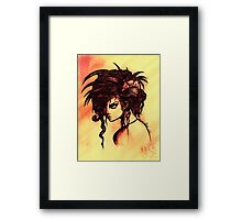 don't look at me. Framed Print