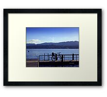 Bicycle at Zürichsee Framed Print