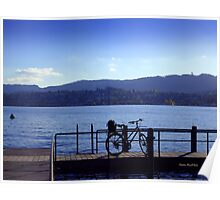 Bicycle at Zürichsee Poster