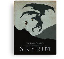 Skyrim Poster Canvas Print