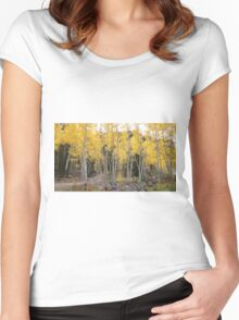 Autumn Colorado Aspens Women's Fitted Scoop T-Shirt