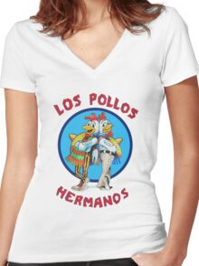 Los pollos hermanos tv Women's Fitted V-Neck T-Shirt