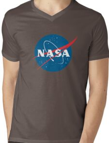 Nasa and Outerspace Mens V-Neck T-Shirt