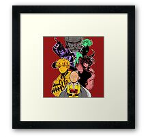 One Punch Man Characters Framed Print