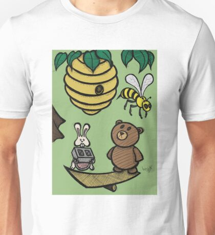 Teddy Bear And Bunny - Without Risk There Is No Reward Unisex T-Shirt