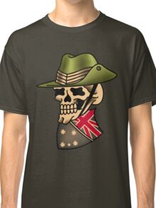 Aussie pride slouch hat and shield skull Classic T-Shirt