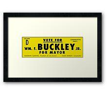 Vote Buckley Framed Print