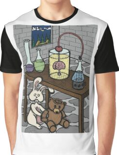 Teddy Bear and Bunny - The Rescue Came Too Late Graphic T-Shirt