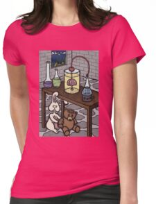 Teddy Bear and Bunny - The Rescue Came Too Late Womens Fitted T-Shirt