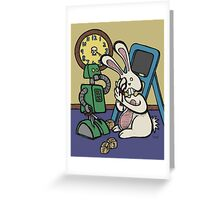 Teddy Bear And Bunny - It's All Fun And Games Greeting Card