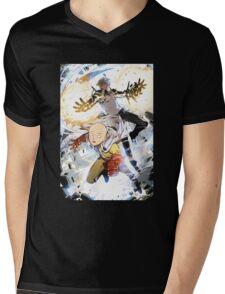 One Punch Man Saitama And Genos Mens V-Neck T-Shirt