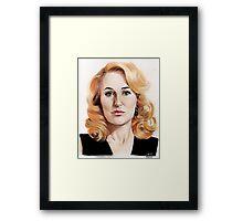 Gillian Anderson color pencil Framed Print