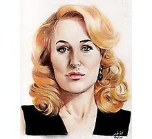 Gillian Anderson color pencil Photographic Print