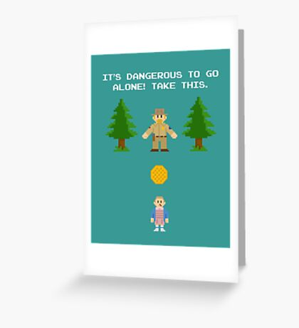 It's Dangerous To Go Alone! (Take Waffles) Greeting Card