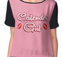 Calender Girl Chiffon Top