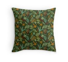 Autumn in green Throw Pillow