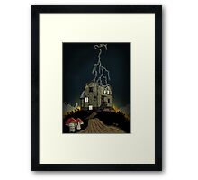 House on a haunted hill Framed Print