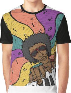 Piano Man Making Music Graphic T-Shirt