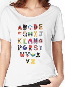 Marvel Superhero Alphabet Women's Relaxed Fit T-Shirt