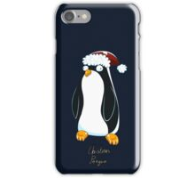 Christmas Penguin Derp iPhone Case/Skin