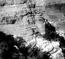 winter light at Grand Canyon national park, USA in black and white Sticker