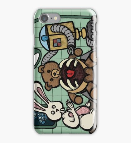 Teddy Bear And Bunny - Bearing The Heart And Paying For It iPhone Case/Skin