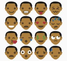 """Barack """"The Emoji"""" Obama 16 Different Facial Expressions Baby Tee"""