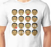 "Barack ""The Emoji"" Obama 16 Different Facial Expressions Unisex T-Shirt"