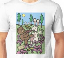 Teddy Bear And Bunny - Do Not Lick The Bees Unisex T-Shirt